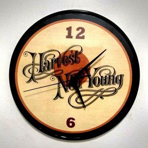 NEIL YOUNG - HARVEST - 12 INCH WALL CLOCK